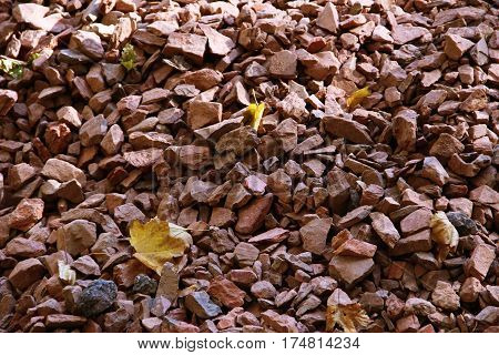 Gravel texture. Gravel background Stones texture autumn