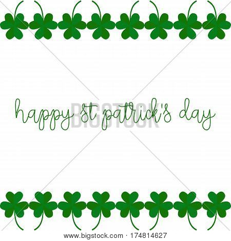Background with shamrock. Picture ready for use in St. Patric holiday thematic