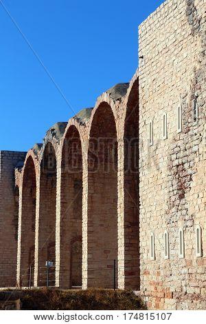 External Walls Of An Ancient Fort Of World War I Near Asiago Tow