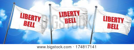 liberty bell, 3D rendering, triple flags