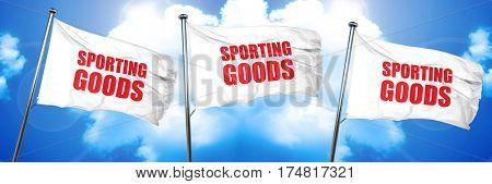sporting goods, 3D rendering, triple flags