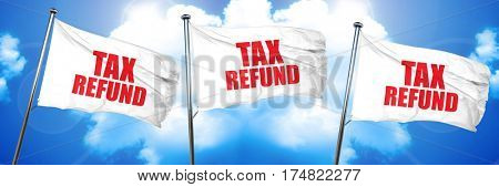 tax refund, 3D rendering, triple flags