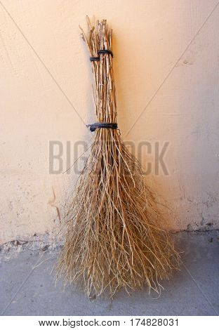 Otter broom, handmade broom, village broom, classic grass broom pictures