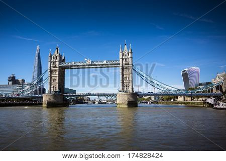 London landmarks seen from the River Thames