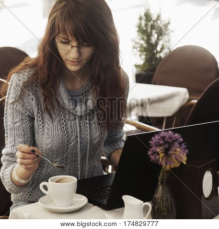successful freelancer working outdoors. Freedom and making money concept. (Business time management wealth)