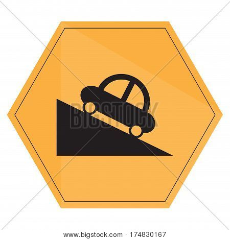 Isolated transit signal on a white background, Vector illustration