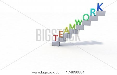 Background Of Teamwork, Right View 3D Render