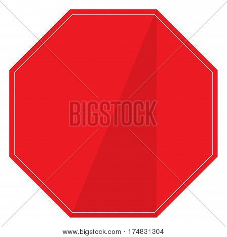 Isolated empty transit signal on a white background, Vector illustration