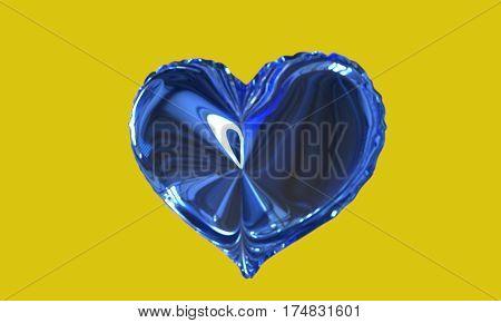 Background Of Ballon Heart Model, 3D Render