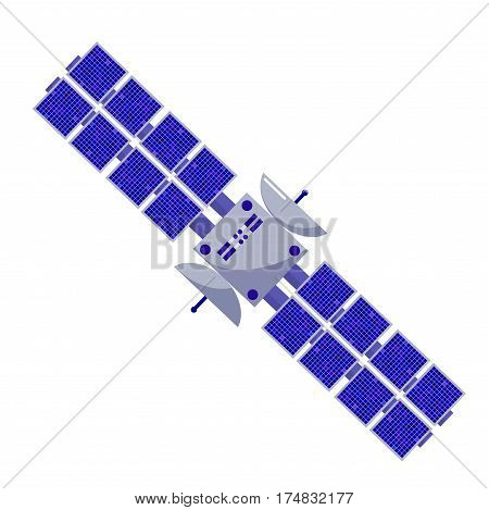 Satellite flat style. Isolated space objects on a white background. Design element. astronautics science