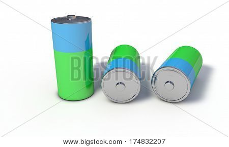 Background Of Battery Recycling, 3D Render