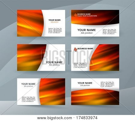 Business Card Layout Template Set31