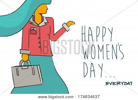 Happy Womens Day Business Lady Design