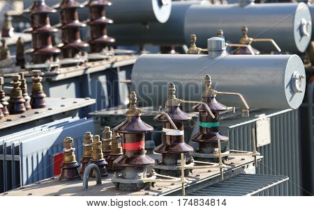 Large Deposit Of Old Voltage Transformers Used In Substations