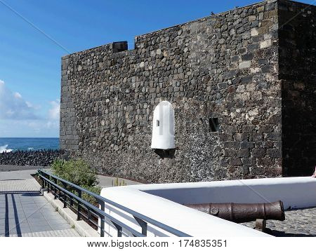 fortress castillo San Felipe in Puerto de la Cruz,Tenerife