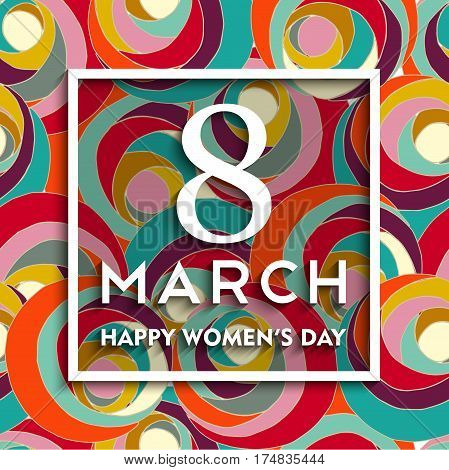 Happy 8 March International Women Day Background