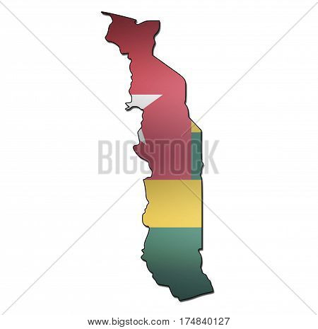 Togo Territory With Flag