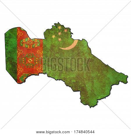 Turkmenistan Territory With Flag