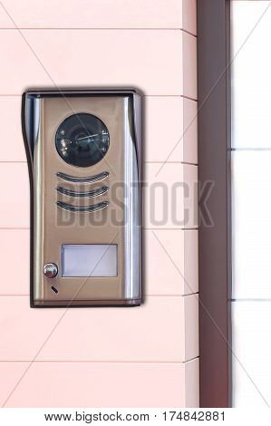 Video intercom system in front of building entrance