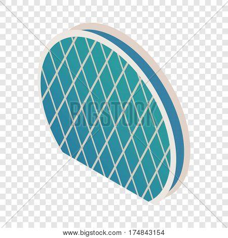 Skyscraper Aldar HQ isometric icon 3d on a transparent background vector illustration