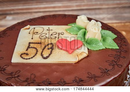 Birthday Cake For Peter´s Fiftieth Brithday