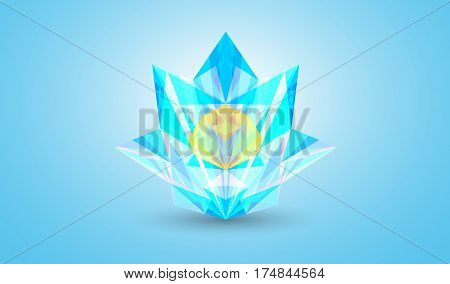 Abstract colorful facet vector illustration, eps 10