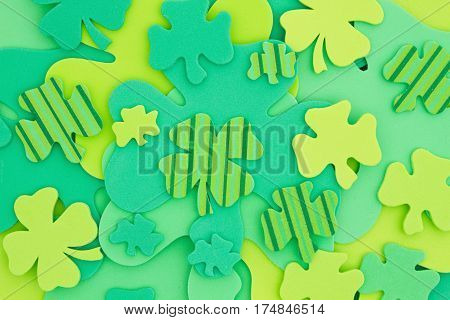 Saint Patrick's Day background Green shamrocks background