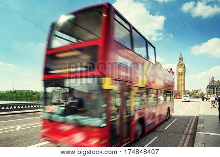 motion bus in London, Uk
