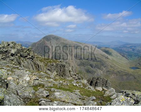 Great Gable from Lingmell Fell in the English Lake District