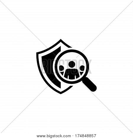 Safety Checking Icon. Flat Design. Security Concept. Isolated Illustration.