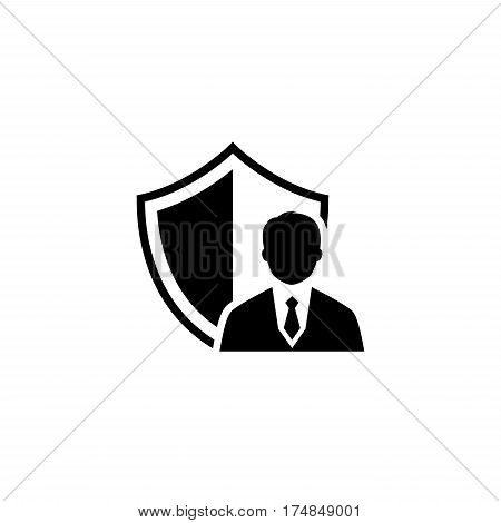 Security Agency Icon. Flat Design. Business Concept. Isolated Illustration.
