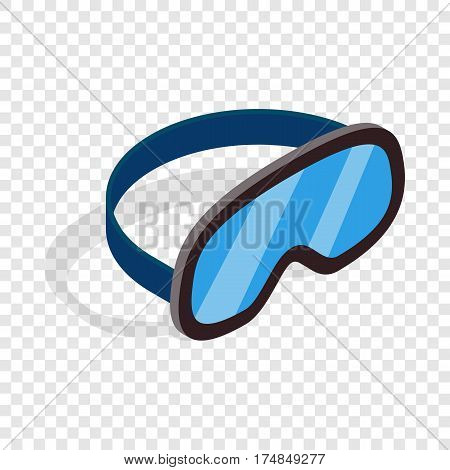 Skiing mask isometric icon 3d on a transparent background vector illustration