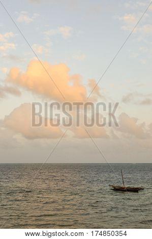 Beam on the Indian ocean near Bamburi beach in Mombasa Kenya