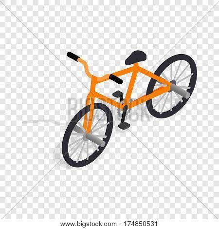 Orange bike isometric icon 3d on a transparent background vector illustration