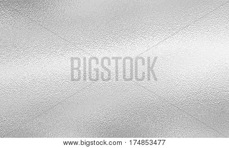 Silver foil background. White gray grey festive metallic backdrop.