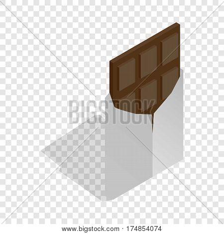 Dark chocolate isometric icon 3d on a transparent background vector illustration