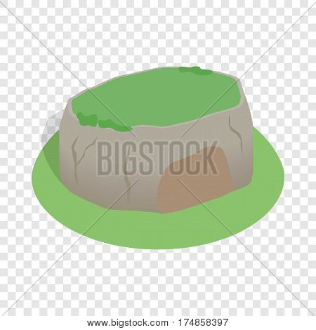 Sigiriya rock, Sri Lanka isometric icon 3d on a transparent background vector illustration
