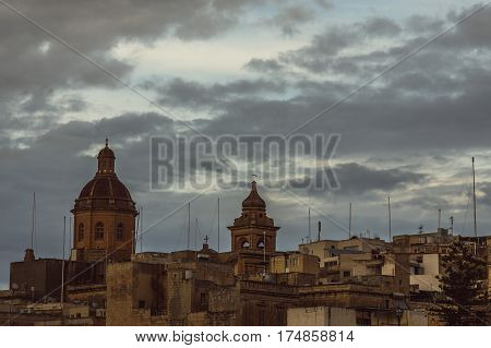 View To St. Lawrence's Church In Il-birgu