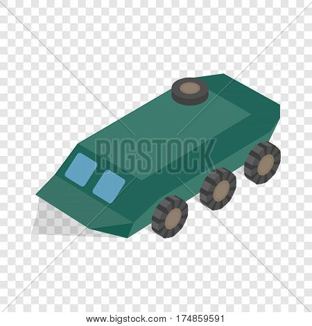Armoured troop carrier wheeled isometric icon 3d on a transparent background vector illustration
