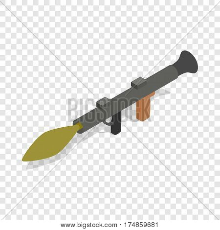 Military rifle army anti tank rocket grenade gun isometric icon 3d on a transparent background vector illustration