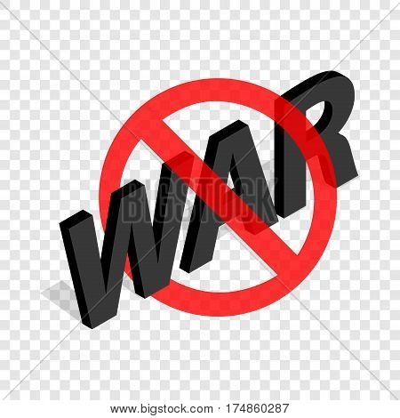 No war sign isometric icon 3d on a transparent background vector illustration