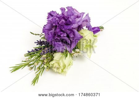 Boutonniere With Eustoma