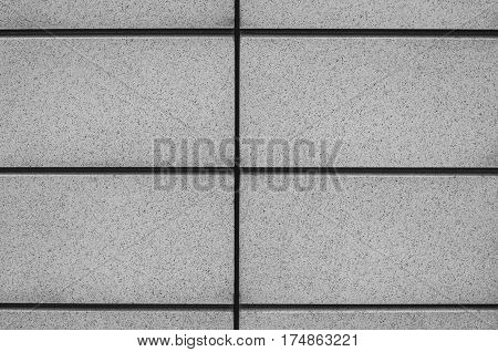 Facade Composite Panels as Background. Symmetry. Black and white photo