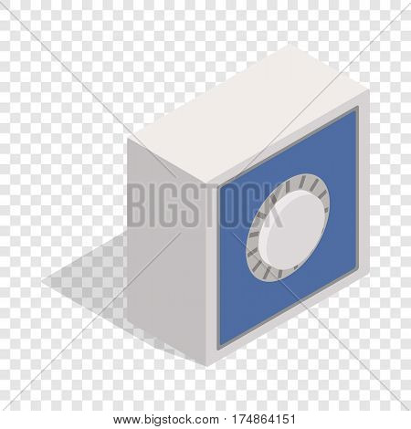 Safety deposit box isometric icon 3d on a transparent background vector illustration