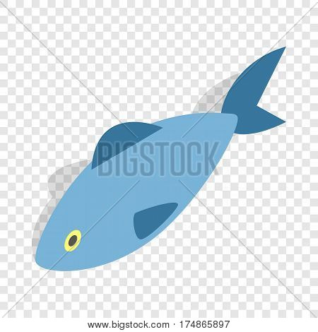 Fish isometric icon 3d on a transparent background vector illustration