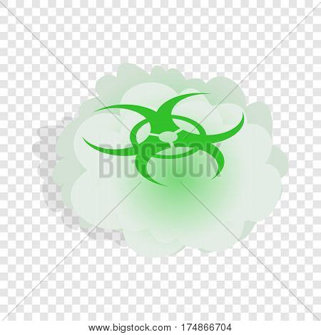 Cloud with biohazard symbol isometric icon 3d on a transparent background vector illustration