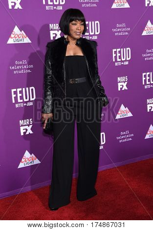 LOS ANGELES - MAR 01:  Angela Bassett arrives for the
