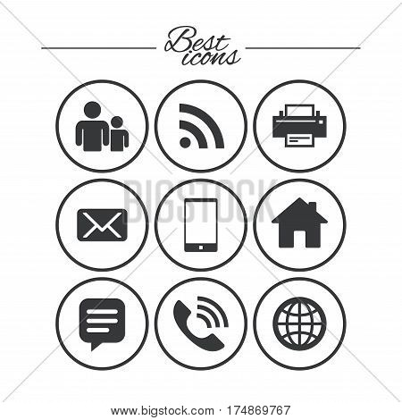 Contact Mail Icons Vector Photo Free Trial Bigstock