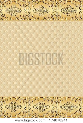 decorative background with old-fashioned patterns and vintage border