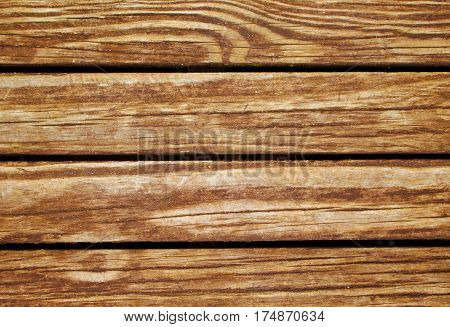 Wood texture. Rustic wood planks closeup. Rough lumber surface. Warm brown wooden background for vintage card. Timber texture closeup. Wooden board wallpaper or backdrop photo. Natural material